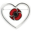 Remember Keep True Poppy Brooch